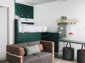 Soluções flexíveis para um apartamento pequeno