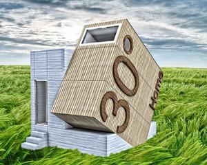 A mini casa de 30°