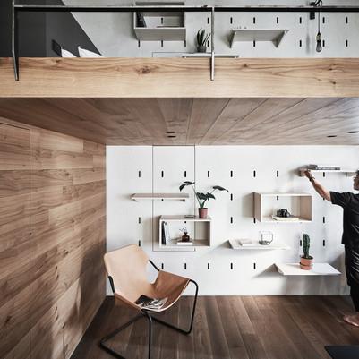 Loft cheio de truques para otimizar espaços