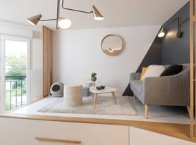 Deck para a sala otimiza os espaços