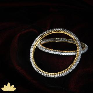 Diamond Bangles with Prong Setting