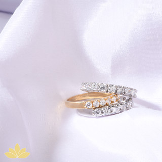 R011 - Silver and Gold Stack Ring Set