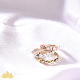 R010 - Rose Gold Stack Ring Set