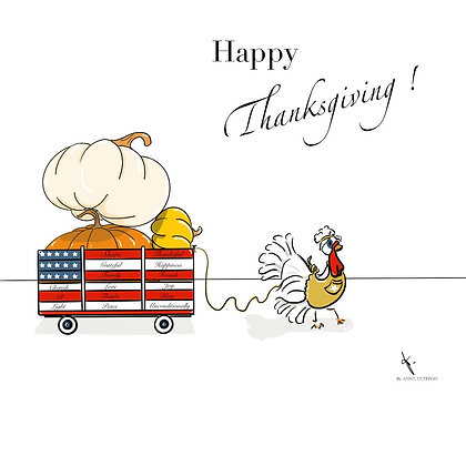 Happy thanksgiving! (papier)