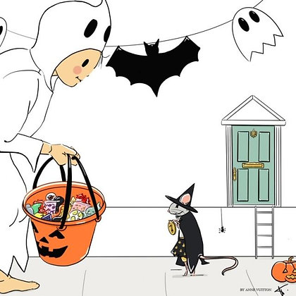 Little Halloween - print