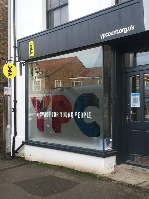 Shop frontage of Young People Count premises