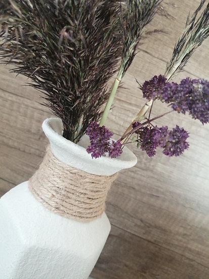 Vase cordage jute - Grain de sable 20