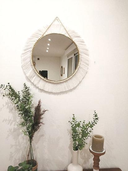Miroir Rond Diane - Coton Blanc Naturel