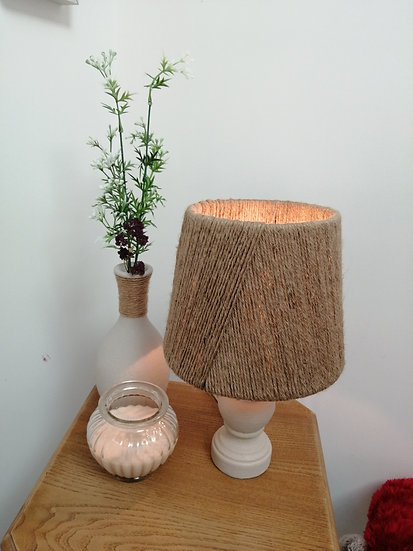Lampe de chevet corde jute - Claire