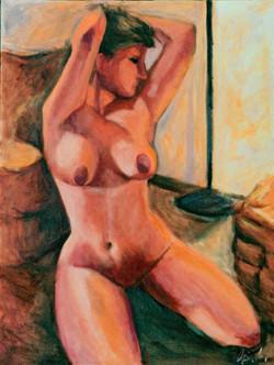 Figure in Firelight