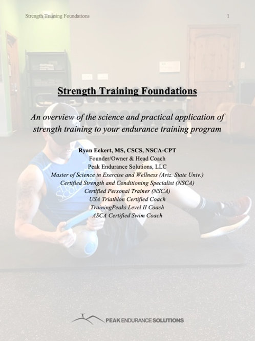 Strength Training Foundations for Endurance Athletes eBook