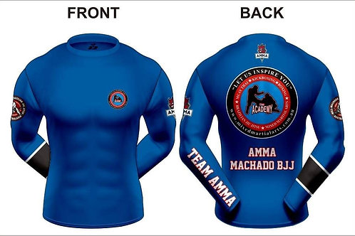 BLUE AMMA RANKED RASH GUARD Long Sleeve