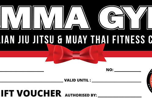 $100.00 AMMA Gym Gift Voucher