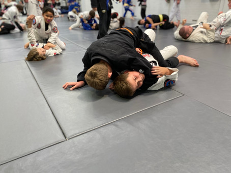 Kids Brazilian Jiu Jitsu Competition team training.