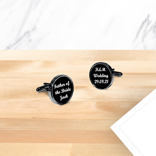Personalised Wedding Cufflinks - Father of the Bride