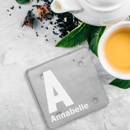 Personalised Glass Coaster - Name