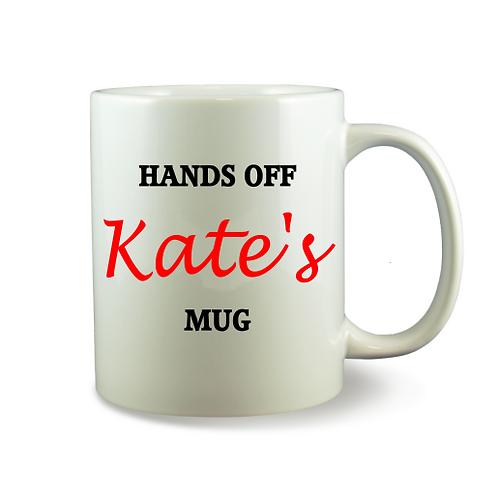 Personalised Mug - Hands Off