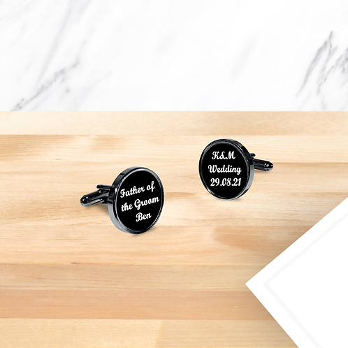 Personalised Wedding Cufflinks - Father of the Groom