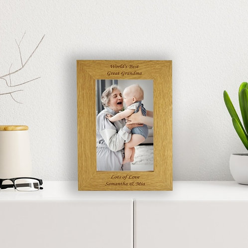 Personalised Wooden Photo Frame - World's Best...