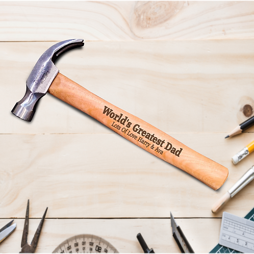 Personalised Hammer 16OZ - World's Greatest Dad