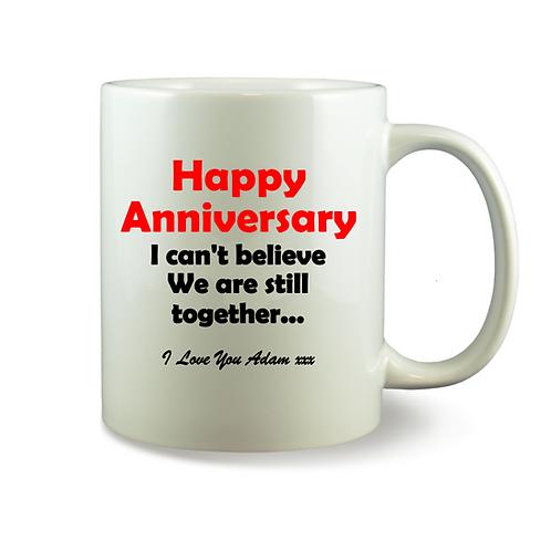 Personalised Mug - Happy Anniversary