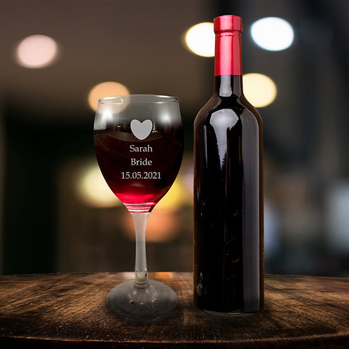 Red Wine glass - Bride