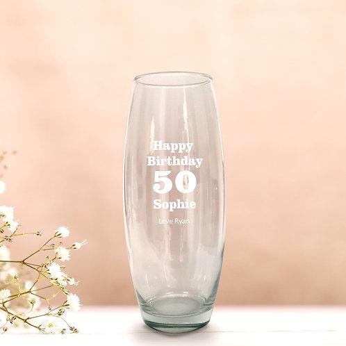 Personalised Birthday Vase - Any Number