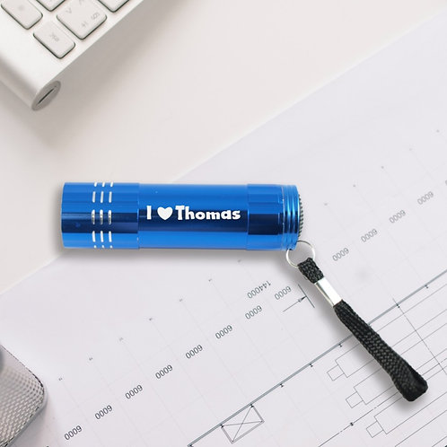"""Personalised Metal Torch """"I Love""""- for Him"""