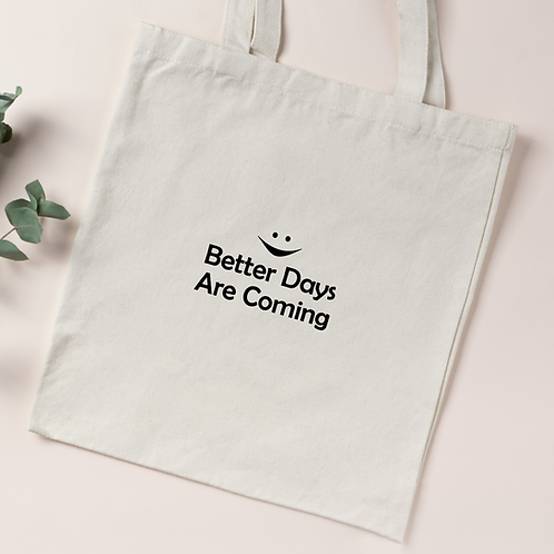 Personalised Organic Cotton Tote Bag - Smile