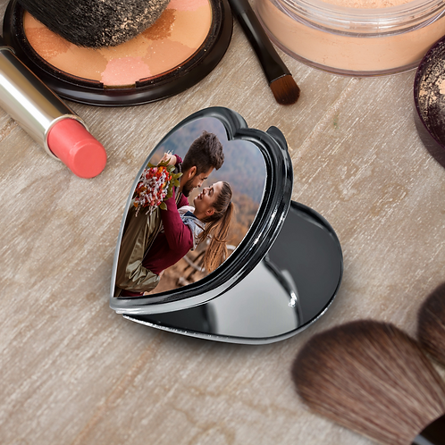 Photo Heart Compact Mirror - Your Picture