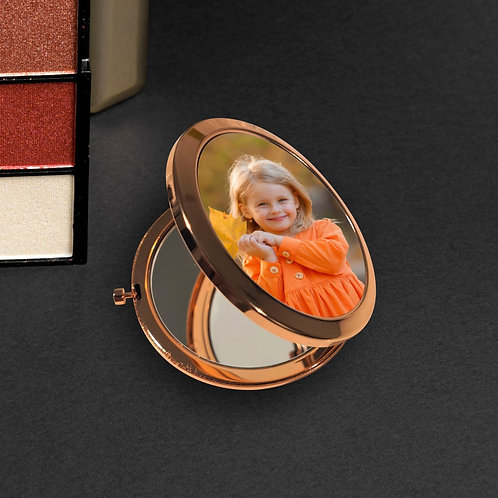 Photo Rose Gold Compact Mirror - Your Picture