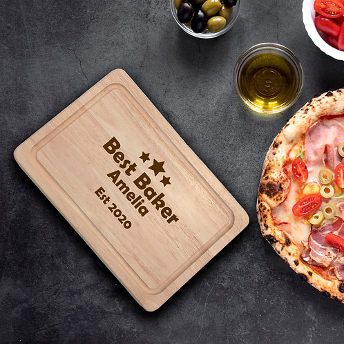 Personalised Rectangle Chopping Board - Best baker
