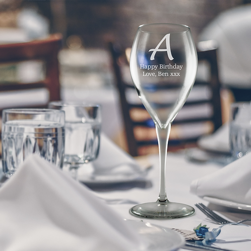 Personalised Premium Wine Glass - Big Initial