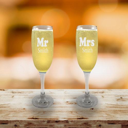 Champagne Flute - Mr &Mrs