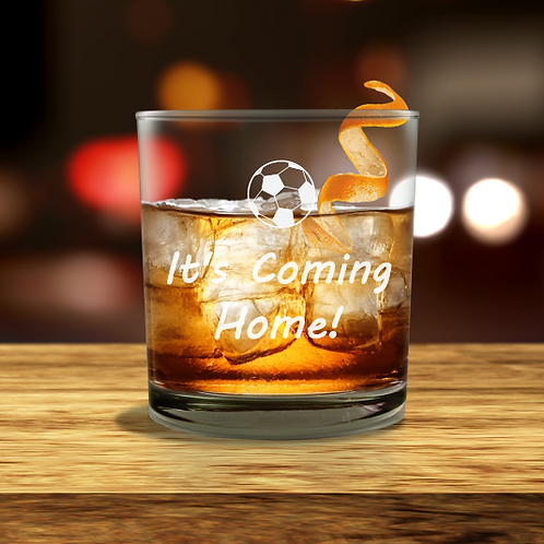 Personalised  Whisky Glass - It's Coming Home!