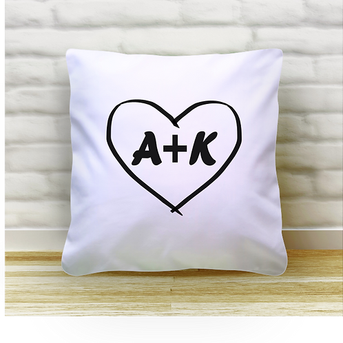 Personalised Cushion Cover - Initials
