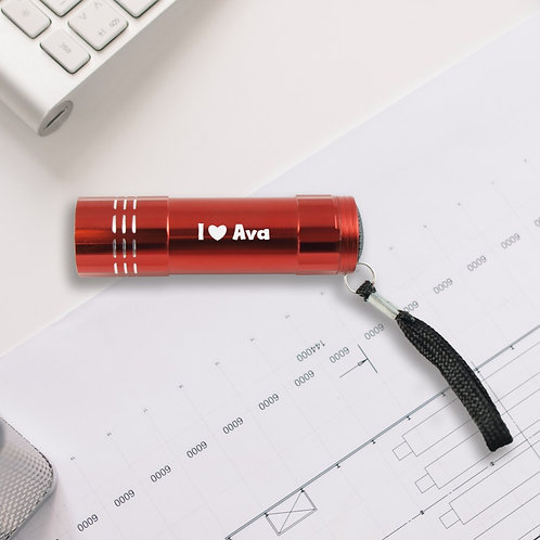 """Personalised Metal Torch """"I Love""""- for Her"""