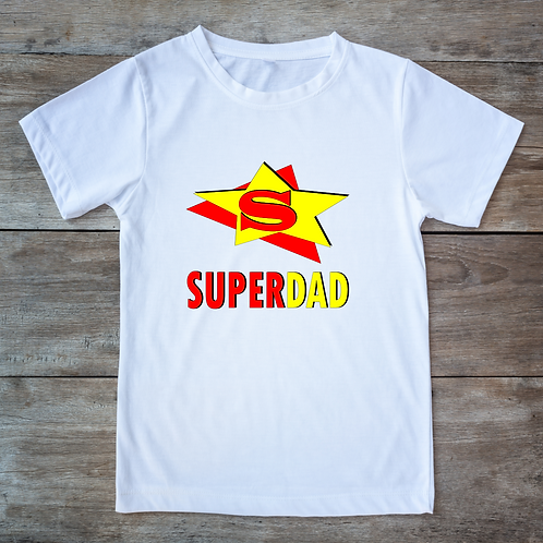 Personalised White T-shirt - SUPERDAD