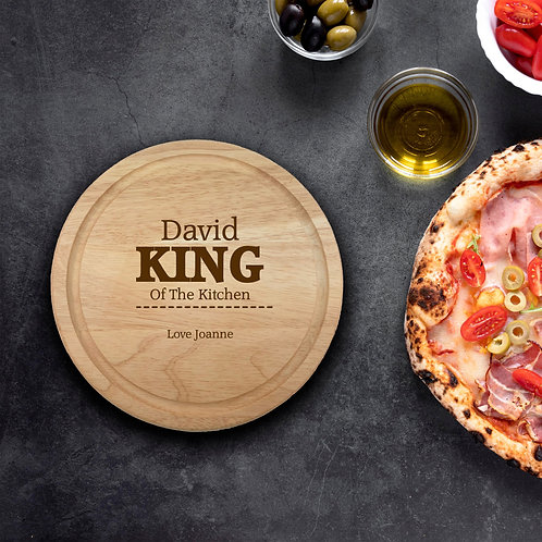 Personalised Round Chopping Board - King