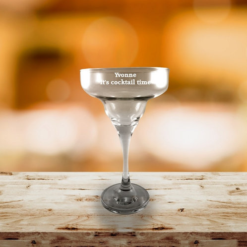 Personalised Margarita Cocktail Glass - Message
