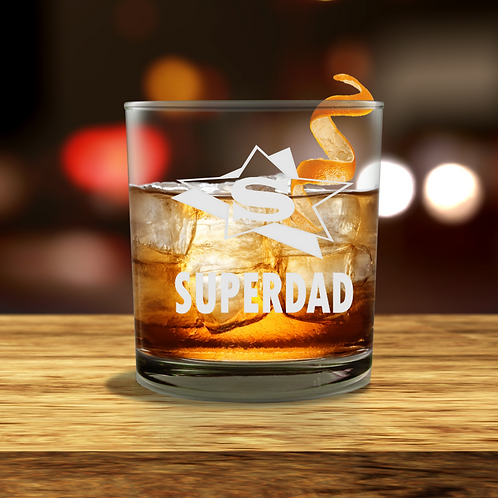 Personalised  Whisky Glass - SUPERDAD