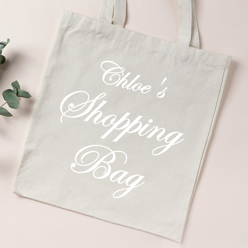 Personalised Organic Cotton Tote Bag - Your Name