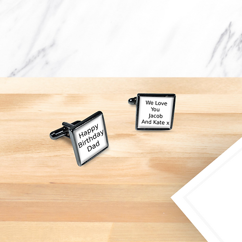 Personalised Cufflinks - Your Text