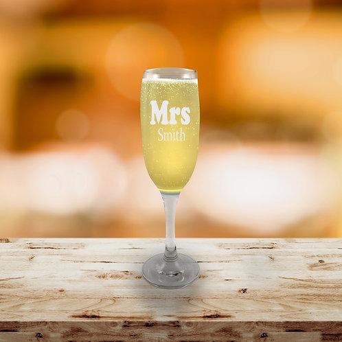 Champagne Flute - Mrs