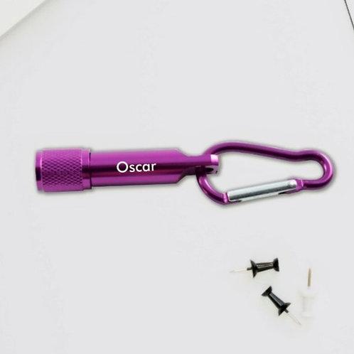 Personalised LED Keyring Torch - Purple