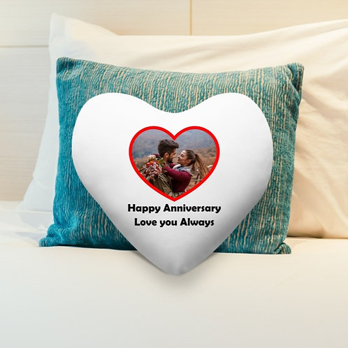 Personalised  Heart Shaped Cushion Cover - Love