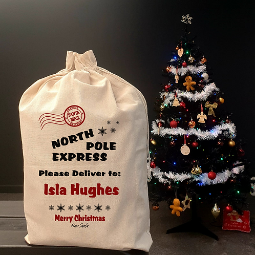 Personalised  Christmas Sack - North Pole Express