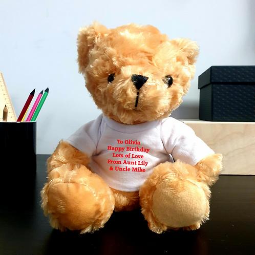 Personalised Teddy Bear - Message
