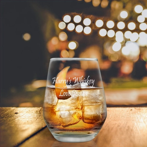 Personalised Old Fashioned Whiskey Glass - For Him
