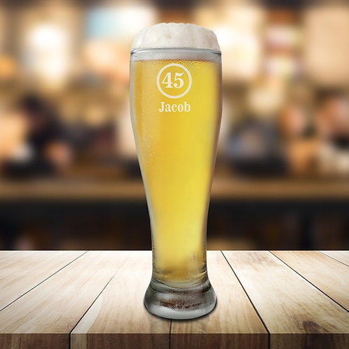 Personalised Tall Pint Glass - Birthday